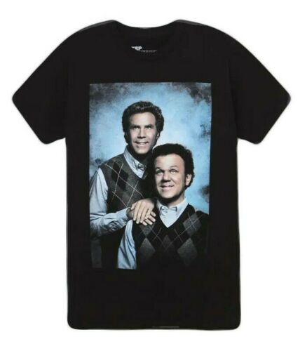 STEP BROTHERS PORTRAIT T-SHIRT BLACK MENS WILL FERRELL MOVIE TEE image