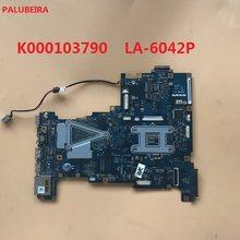 Palubeira k000103790 para toshiba satellite l670 l675 computador portátil placa-mãe nalaa LA-6042P hm55 com placa gráfica 100% teste