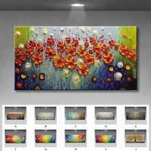 Красивые цветы для украшения дома абстрактный холст ручной работы Масляные картины настенные художественные картины для гостиной без рамки