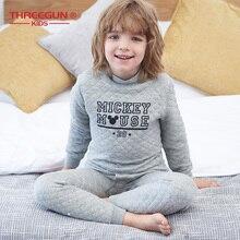 THREEGUN KIDS X Disney Mickey Mouse Long Thermal Underwear Toddler Boys Winter