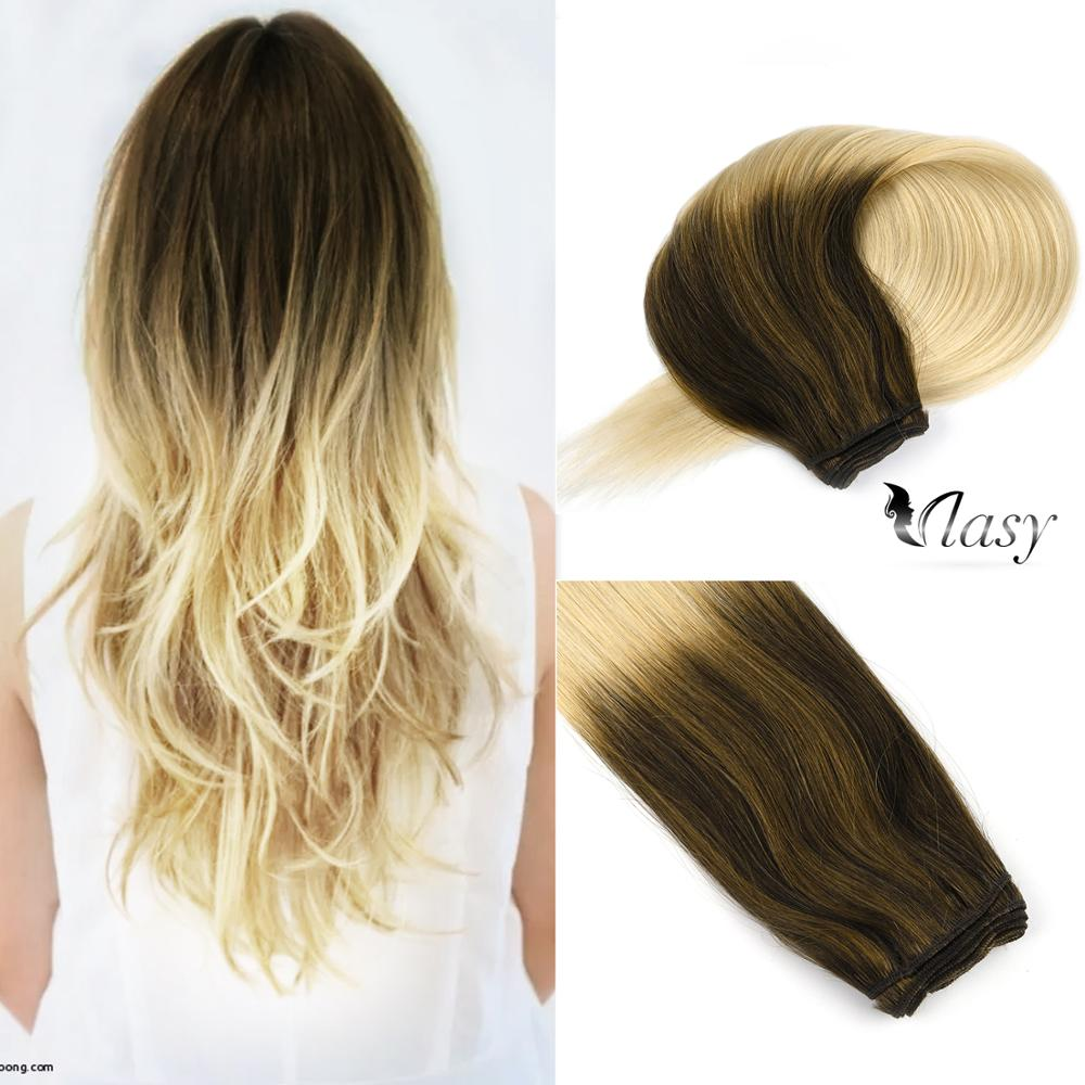 Vlasy 22'' Human Hair Bundles Newest Balayage Color Toffee & Cream Remy Hair Weft Double Drawn Hair Extensions 100g/pc
