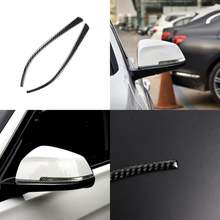 Автомобильная наклейка на зеркало заднего вида из углеродного