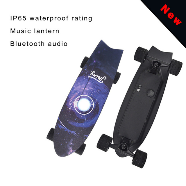 Longboard Electric Skateboard With Bluetooth audio and lantern Motor with Remote  2