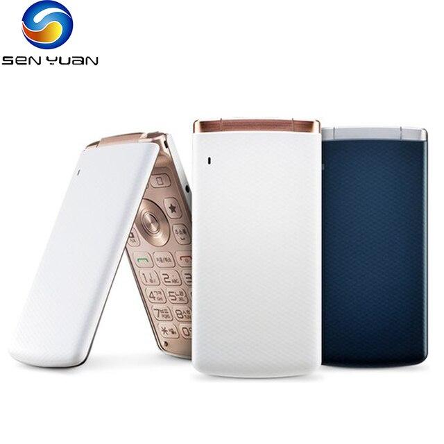 Original LG Smart Folder 4G LTE Mobile Phone Unlocked LG X100 3.3'' 2GB RAM 16GB ROM 4.9MP Camera FM Radio Android SmartPhone 1