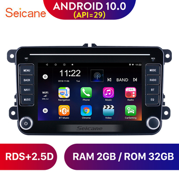 Seicane Android 10.0 RDS 2.5D Screen For VW/Volkswagen/Golf/Tiguan/Passat/b6 b5 Car Head Unit Stereo player Radio GPS Navigation image