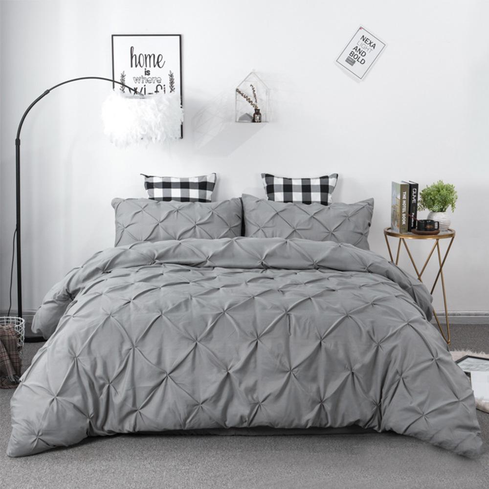39 bedding set white pink grey duvet cover king queen size quilt cover bedclothes pillowcase 2pcs 3pcs bedding kit