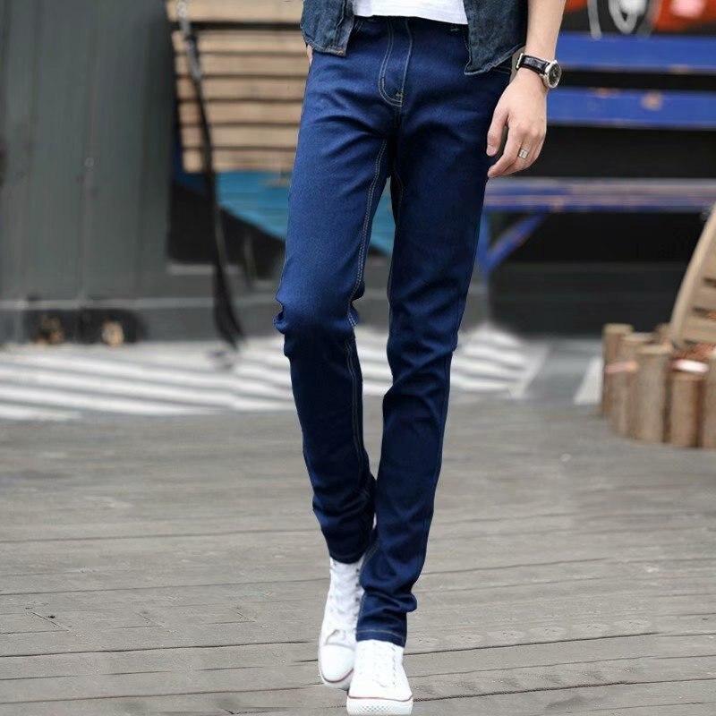 MEN'S Black Elasticity Tight-Fit Jeans Slim Fit Skinny Pants Blue Casual Long Pants 2019 Korean-style Trend Now