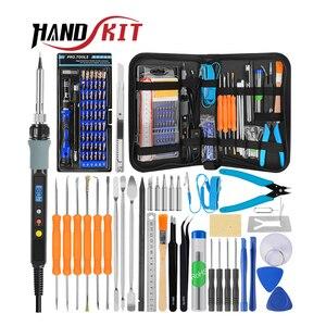 Image 1 - Handskit الرقمية لحام الحديد مفك مجموعة أدوات لحام الحديد الملقط سلك متجرد متعددة الوظائف أدوات لحام