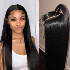 Image 3 - Ali Annabelle brezilyalı düz dantel ön İnsan saç peruk 13x4 dantel ön peruk ön koparıp İnsan saç dantel kapatma Frontal peruk