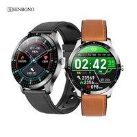 SENBONO-reloj deportivo inteligente con rastreador para hombre y mujer, pulsera con Monitor de ritmo cardíaco durante el sueño, multideporte, para IOS y Android