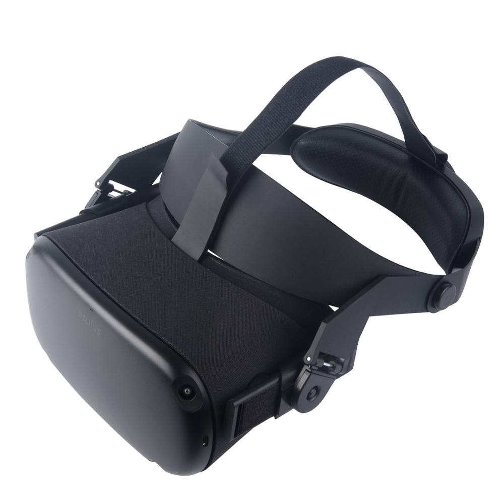 For Oculus Quest Adjustable VR Headset Headwear Pressure-relieving Non-slip VR Helmet 3D Virtual Reality Glasses 1