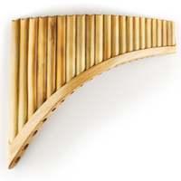 22 Pipes G Key Reed Pan Flute Traditional Romanian Woodwind Instrument Bamboo Handmade Pan Pipe