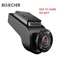 BOJECHER 4K Full HD Car camera DVR Car Dash cam with 170 Degree Rear Camera Night Vision 2160P Dual Lens with GPS car Recorder