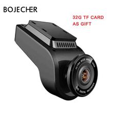 BOJECHER 4K Full HD Car camera DVR Car Dash cam with 170 Degree Rear Camera Night Vision 2160P Dual Lens with GPS car Recorder free ship car auto camera for mercedes benz a w176 2013 15 dash cam full hd night vision cycle recording 170 degree wdr with app