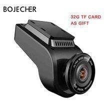 BOJECHER 4K Full HD Car camera DVR Car Dash cam with 170 Degree Rear Camera Night Vision 2160P Dual Lens with GPS car Recorder цена 2017