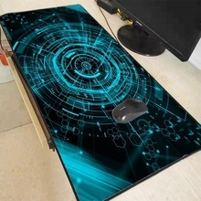 Mairuige Green Light Extra Large Mouse Pad Gaming Waterproof Mousepad Anti-slip Natural Rubber Mat with Lock Edge
