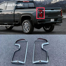 цена на Car Styling Chrome Rear Light Door Handle Cover Trim For Chevrolet Silverado 2019 Accessories