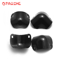 цена на 8PCS/set Speaker Corners Metal Angle Rounded Protector Guitar Amplifier Stage Cabinets Accessories Black