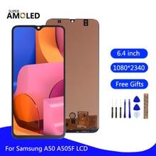 Amoled לסמסונג גלקסי A50 SM A505FN/DS A505F/DS A505 LCD תצוגת מסך מגע Digitizer עצרת לסמסונג a50 A50F מסך