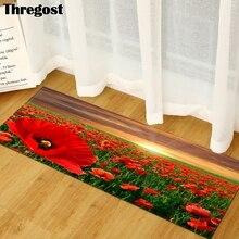 Thregost Hallway Mats Scenic Print 3D Bedroom Living Room Long Floor Rugs Anti-Slip Kitchen Bathroom Carpet Washable