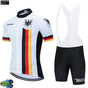 Велосипедная одежда, немецкая национальная команда, 12D шорты, велосипедная майка, Мужская быстросохнущая велосипедная одежда, летние профе...