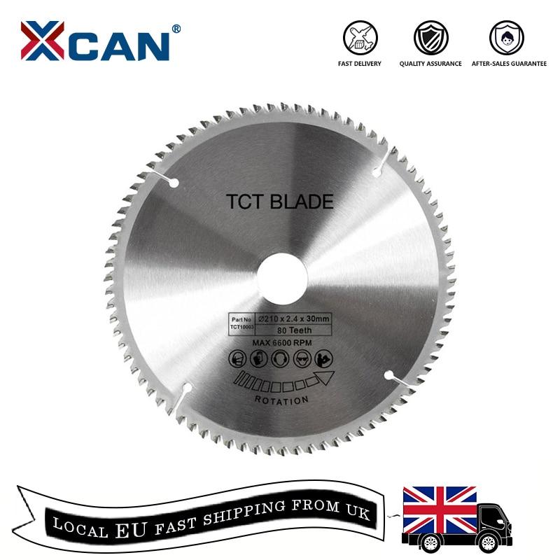 XCAN Circular-Saw-Blade Cutting Disc-Carbide Wood 1pc 60T/80T 210/250mm