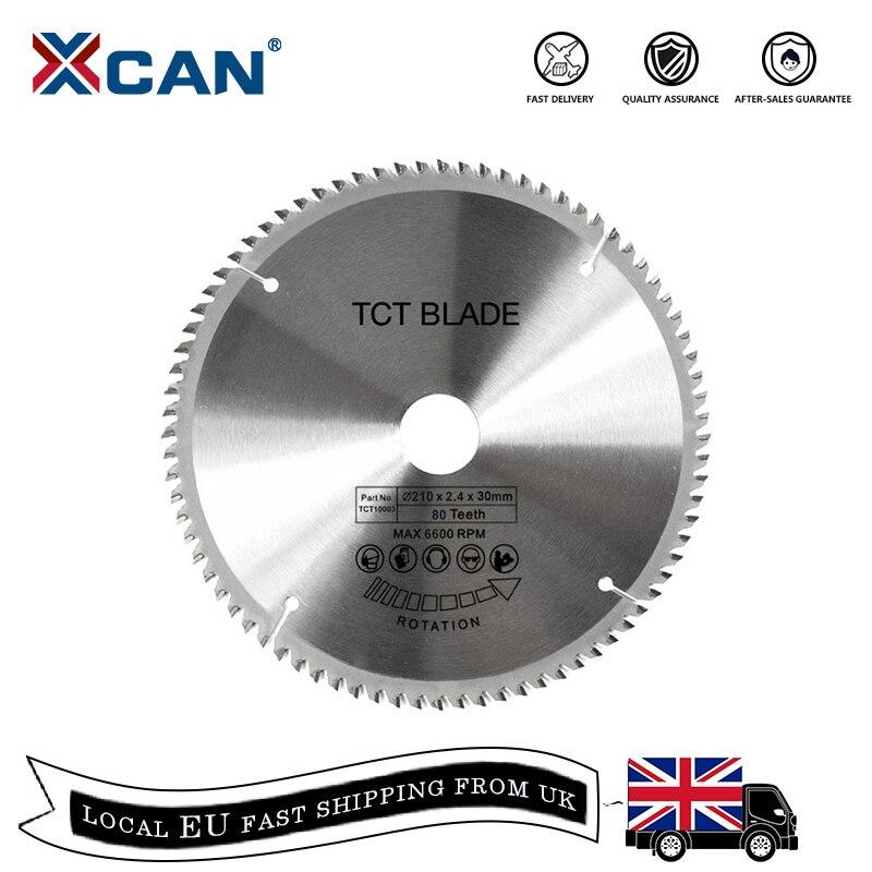 XCAN 1pc 185/210/250mm 60T/80T TCT Legno Circolare Seghe Lama di Legno disco di taglio In Metallo Duro TCT Seghe Lama