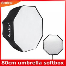 Godox lumière Softbox 80cm / 31.5in diamètre octogone Brolly parapluie photographie accessoires boîte souple réflecteur pour Studio vidéo