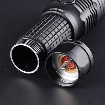 Konwój M3 XHP70 2 4300LM wysoki prześwit przenośna latarka wbudowany ochrona przed przegrzaniem latarka o dużej mocy Mini latarka latarka LED tanie i dobre opinie CN (pochodzenie) ROHS Ostre światło Black stop aluminium LATARKI ar-coated glass Orange peel 1pcs 149mm 48 1mm 35 6mm 38 1mm