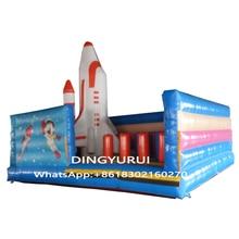 купить Space Inflatable Trampoline Kids Jumping Bouncer House Play Center дешево