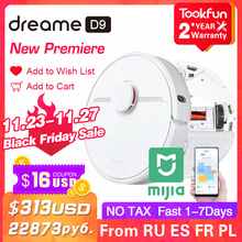 Dreame D9 Robot Vacuum Cleaner for home Sweeping Washing Mopping 3000PA cyclone Suction XIAOMI MIJIA APP WIFI Smart Planned Dust