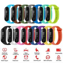 8/10/12/13/14/15pcs Soft Silicone Sport Watchband Replacement Bracelet Smart Wristband Bands Strap for Xiaomi Mi Smart Band 4 3