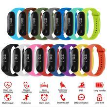 8/10/12/13/14/15pcs Weiche Silikon Sport Armband Ersatz Armband Smart Armband bands Strap für Xiaomi Mi Smart Band 4 3