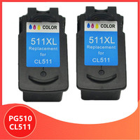 2 Color PG510 CL511 Ink Cartridge Replacement for Canon PG 510 pg-510 CL 511 for MP240 MP250 MP260 MP280 MP480 MP490 IP2700MP499