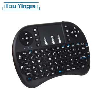 Touyinger New arrival mini i8 klawiatura air mouse multimedialny zdalny touchpad do trzymania dla projektorów Android i Smart TV tanie i dobre opinie i8 Game keyboard for Android projectors 146 8 mm x 97 5 mm x 19 0 mm 110g up to 10 meters +5db Max 50mA 300mA 1mA