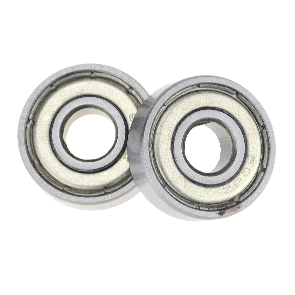 10pcs-lot Double Shielded Miniature carbon Steel Single Row 608ZZ Deep Groove Ball Bearing 8*22*7mm