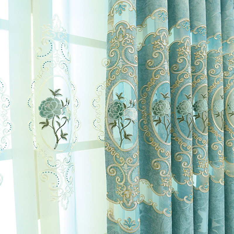 check MRP of blue curtains for bedroom