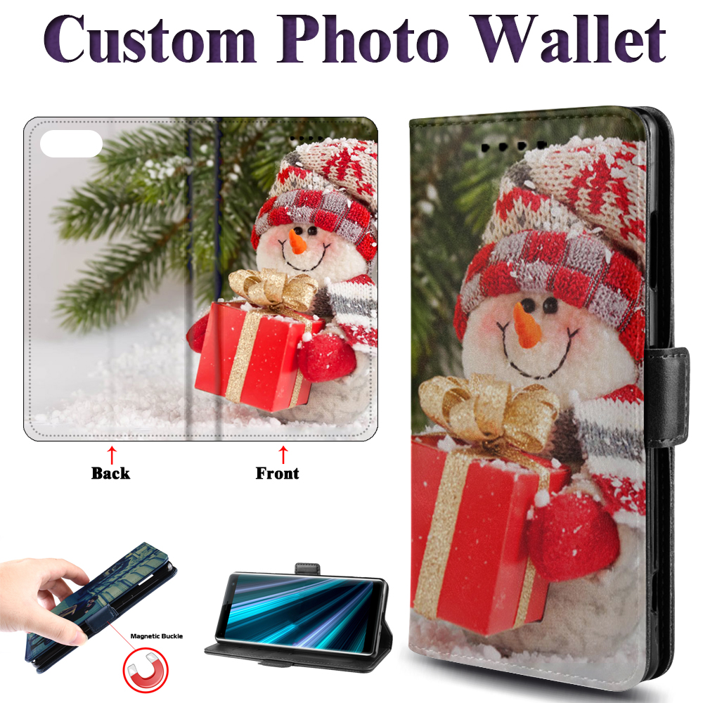 PERSONALIZED PHOTO Phone Case for Samsung Galaxy S6 S7 Edge S8 <font><b>S9</b></font> Plus <font><b>S9</b></font>+ S8+ G9650 <font><b>G9600</b></font> Flip Cover For iPhone 11 8 7 Cases image