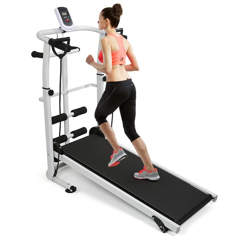 Multifunction Folding Treadmill Mute Fitness Equipment Wide Run Belt Treadmill 3 In 1 Twisting Waist Machine Fitness Stepper HWC