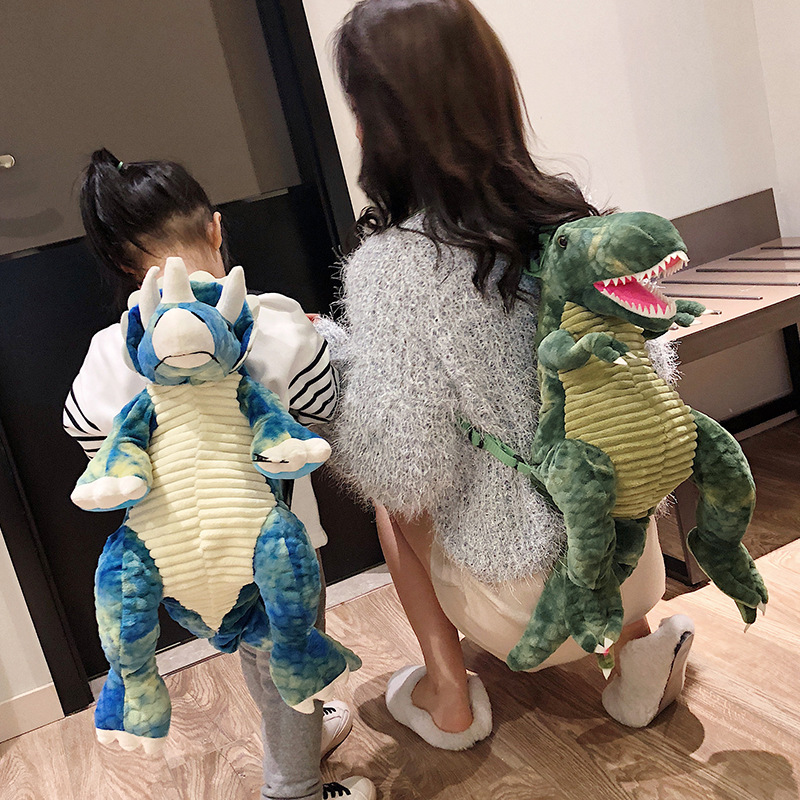 2020 NEW Kids Backpack Big Dinosaur Soft Super Cute Parent-child Dinosaur Bag Adjustable Strap Baby Children's Cartoon Backpack