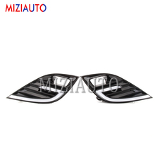 цена на 1PAIR For Toyota Camry 2018 2019 XSE SE DRL LED Fog Lamp Driving Daytime Running Lights With Yellow Turn Signal lamp