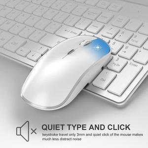 Image 2 - JOYACCESS الفضة لوحة مفاتيح روسية الماوس مجموعة لاسلكية مريحة Mause الأعمال رقيقة لوحة مفاتيح وماوس الماوس الصامت للمكتب