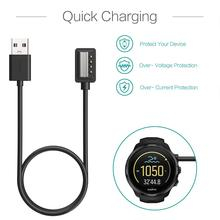 Charger for Suunto Spartan Ultra HR,Spartan Sport Wrist HR,Suunto 9,Suunto EON Core - USB Charging Cable Clip Cradle 100cm usb charger magnetic charging cable dock cradle station cord portable replacement accessories for suunto spartan watch