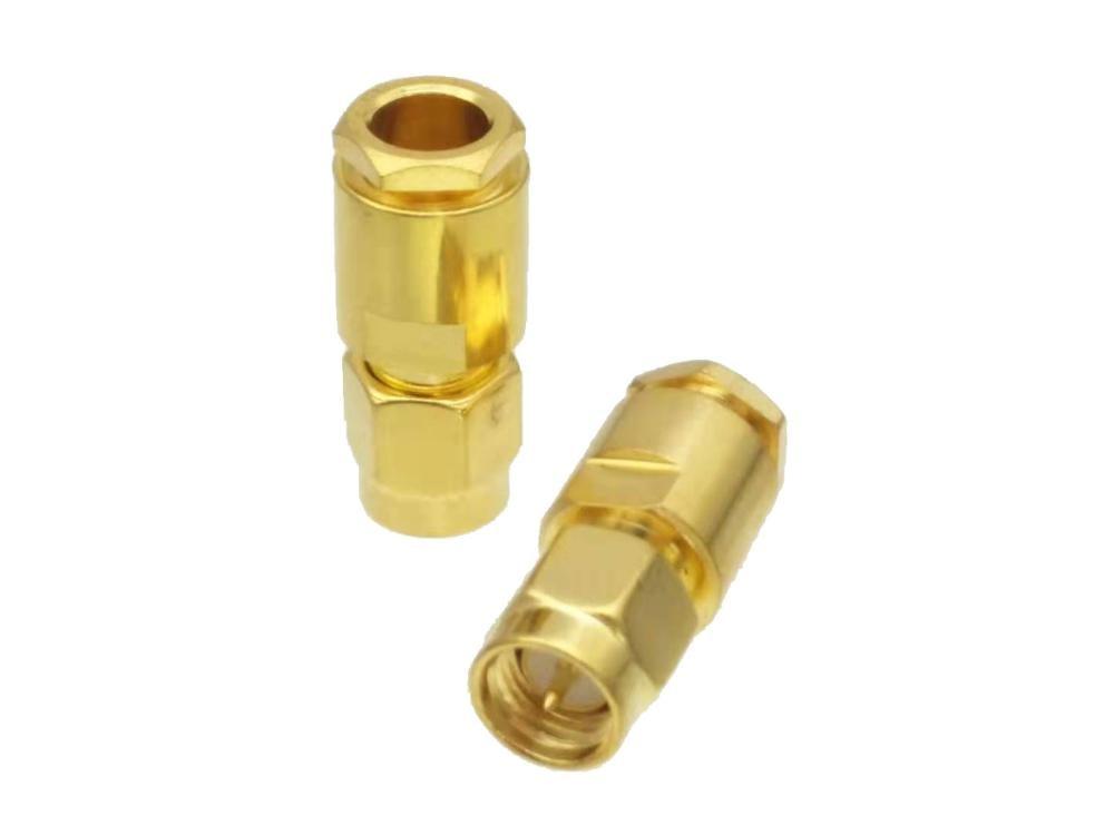 SMA Male Plug Clamp RG58 RG142 LMR195 RG400 Cable RF Connector