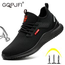 Men's Shoe Black Breathable Running And Autumn Spring Pu GQPJFI Weave Flying Puncture-Resistance