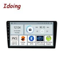 "Idoing 9 ""10.2"" PX5 עבור האוניברסלי רכב רדיו מולטימדיה נגן ניווט GPS Carplay אוטומטי Bluetooth 5.0 ראש יחידה לא 2 דין DVD"