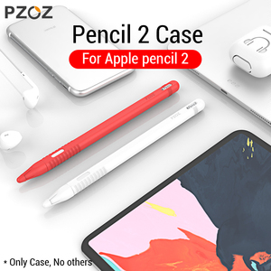 PZOZ For Apple Pencil 2 Case iPad Pro 2018 Pencil case Tablet Touch Stylus Pen Protective Cover Pouch Portable soft Silicon Case(China)