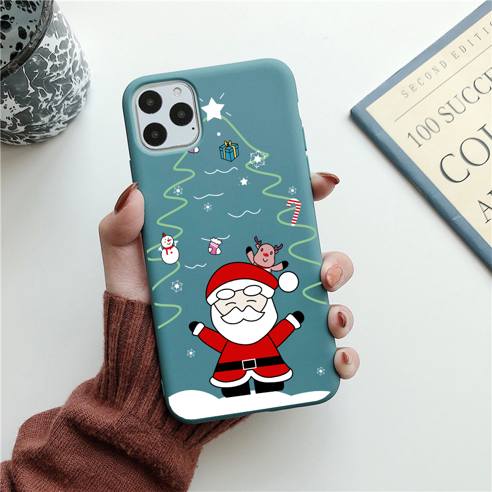Funny Cartoon New Year Christmas Case For iPhone 12 Mini