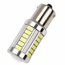 2Pcs 1156 12V LED Daytime Running Light Amber Yellow Bulb 33SMD Brake Lamp Parking lights/Daytime Running Lights(DRL) Car Light цена 2017