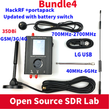 PORTAPACK مع البرامج الثابتة الخراب تومض + هاكرف واحد 1MHz إلى 6GHz SDR البرمجيات دي + 1000mAH البطارية + 2.4 LCD تعمل باللمس